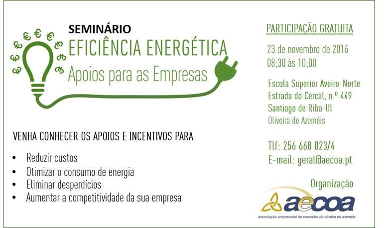 Seminário Apoio às Empresas para Eficiência Energética
