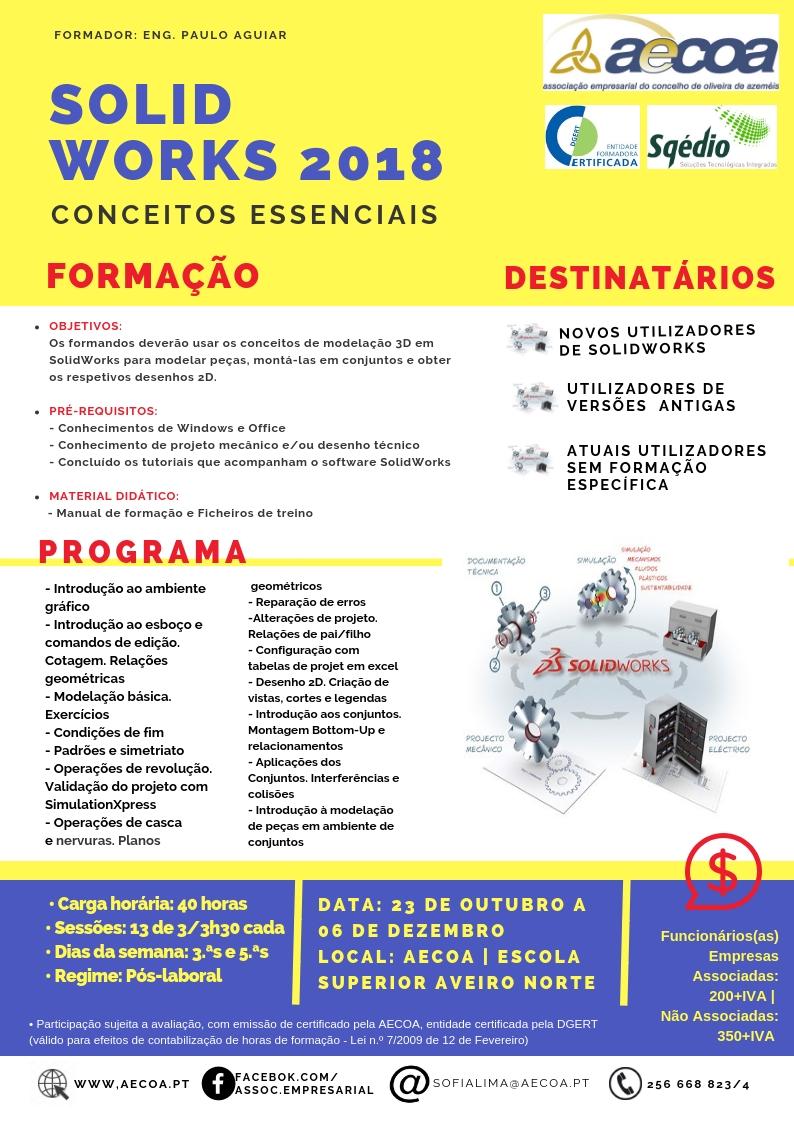 AECOA e Sqedio apresentam nova edição do curso de SolidWorks – Conceitos Essenciais