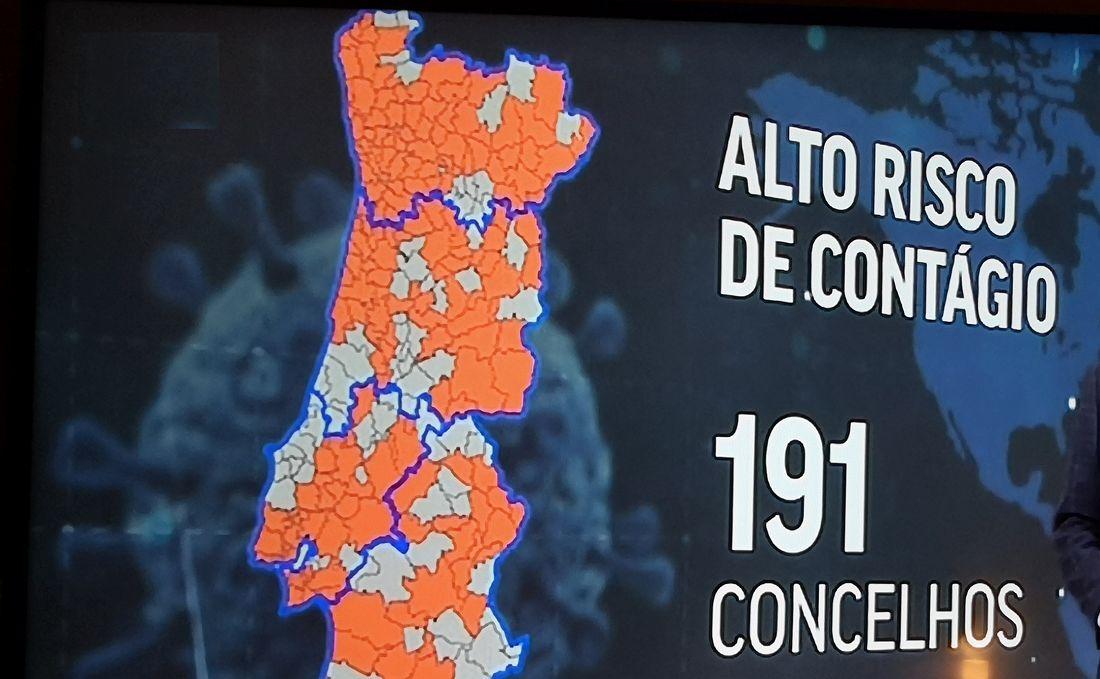 Estado de emergência para 191 concelhos portugueses