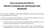 Covid 19 | Recomendações da ERSUC